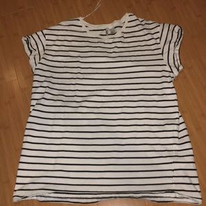 black and white striped t-shirt from H&M